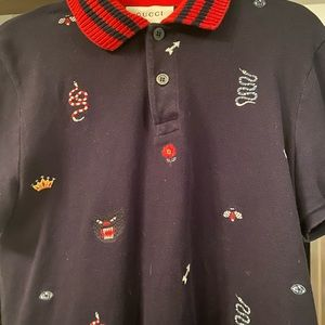 Gucci fun designs causal shirt.